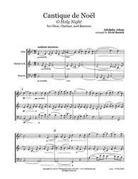 O Holy Night Oboe/Clarinet/Bassoon Trio