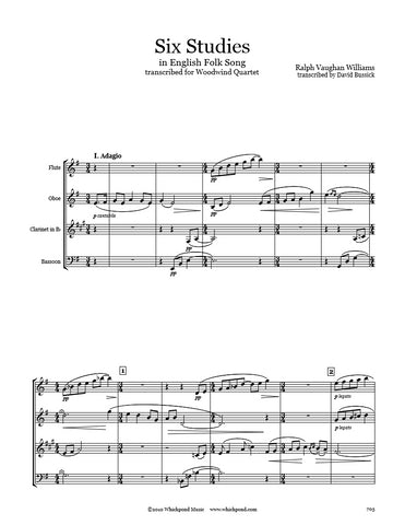 Vaughan Williams 6 Studies Wind Quartet