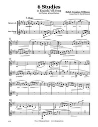 Vaughan Williams 6 Studies Clarinet Duet