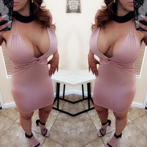 Jade Peekaboo Mini Dress - Blush (S&M)