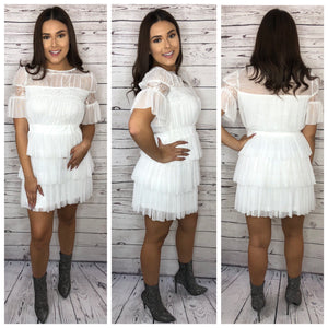 Fiona Sheer Dress - White