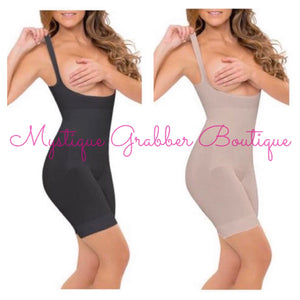 Black Full Body Seamless Body Shaper with Straps (S-XL)