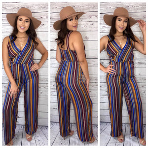 Annabelle Striped Jumpsuit