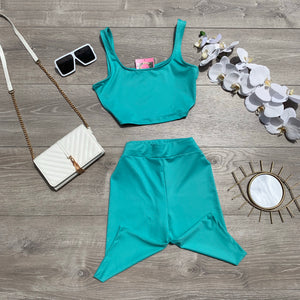 Making Moves Biker Shorts Set - Jade
