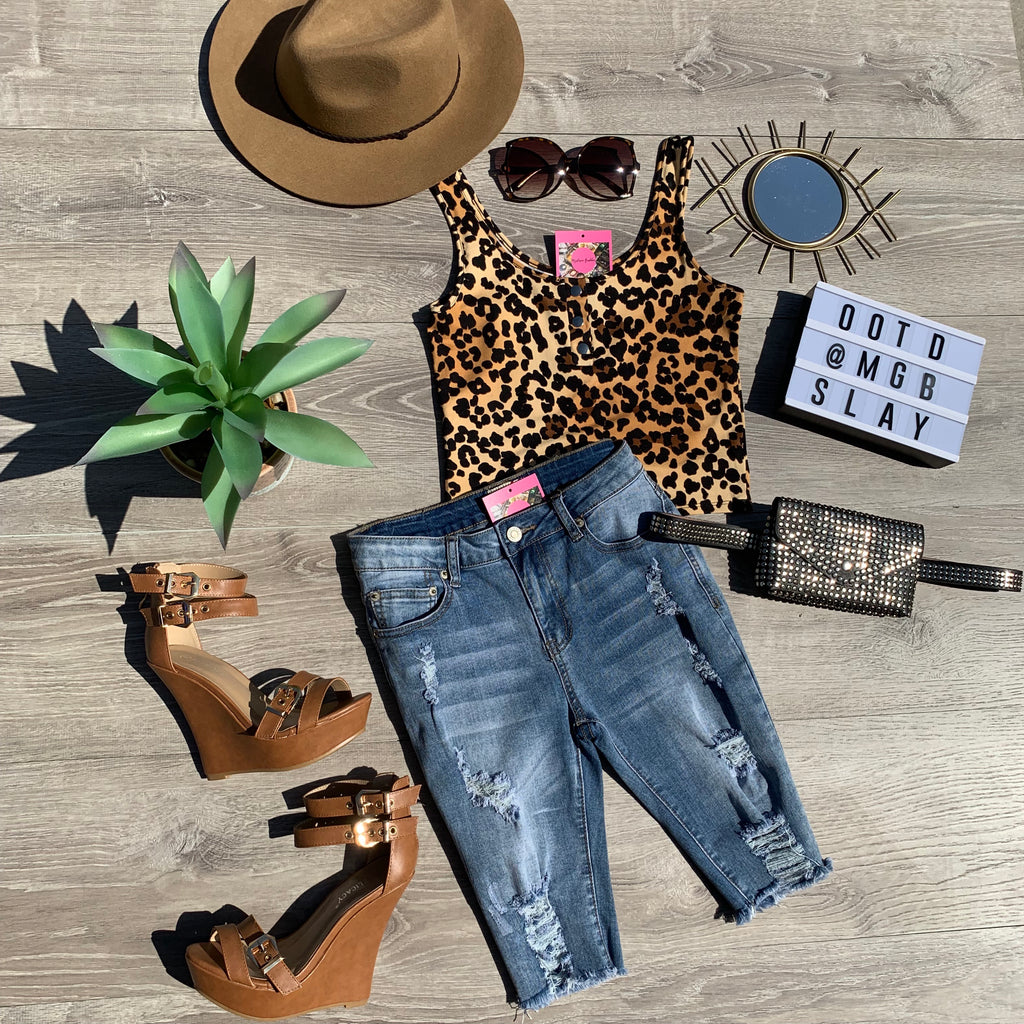 On The Prowl Leopard Tank Top