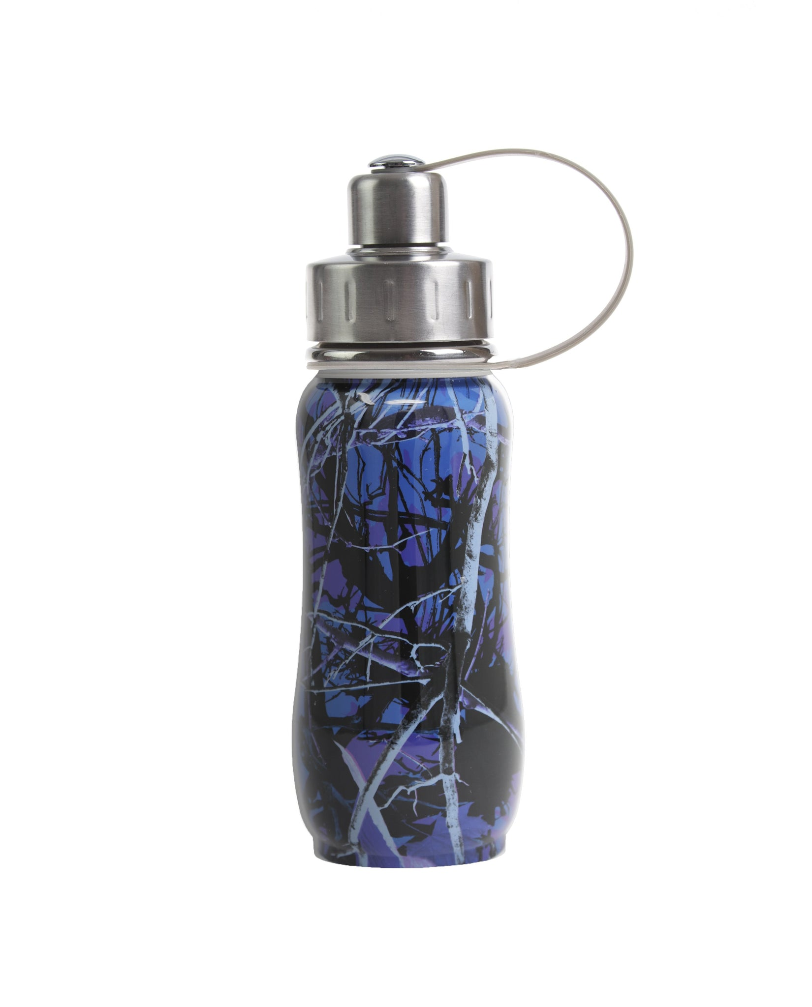350 ml Blue 'Luxembourg Garden' stainless steel insulated water bottle greens your colour