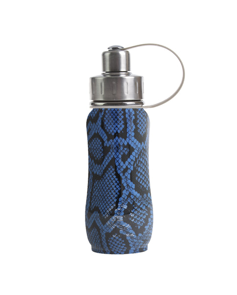 350 ml Vegan Snakeskin triple insulated vacuum stainless steel leak-proof water bottle carrying handle silver lid