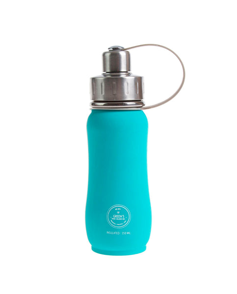 350 ml Jammin' Jade triple insulated vacuum stainless steel water bottle greens your colour