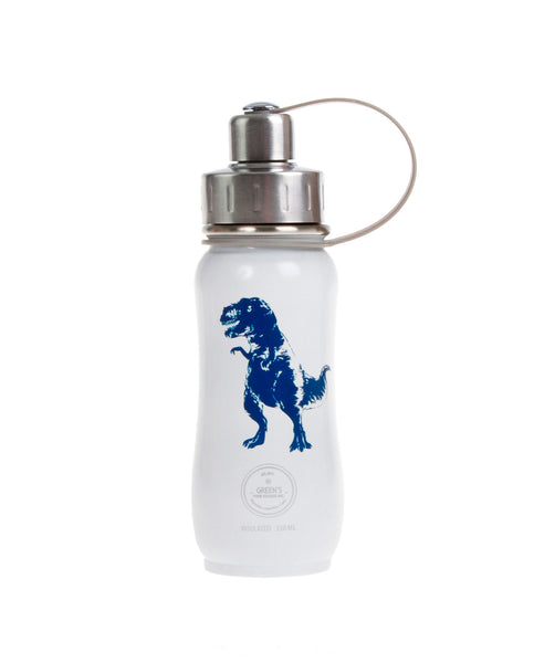 350 ml white blue FUN DINOSAUR insulated vacuum stainless steel water bottle greens your colour