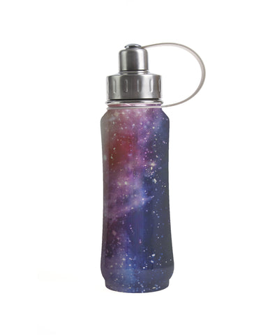 500 ml Star Cluster insulated vacuum stainless steel leak-proof water bottle carrying handle silver lid