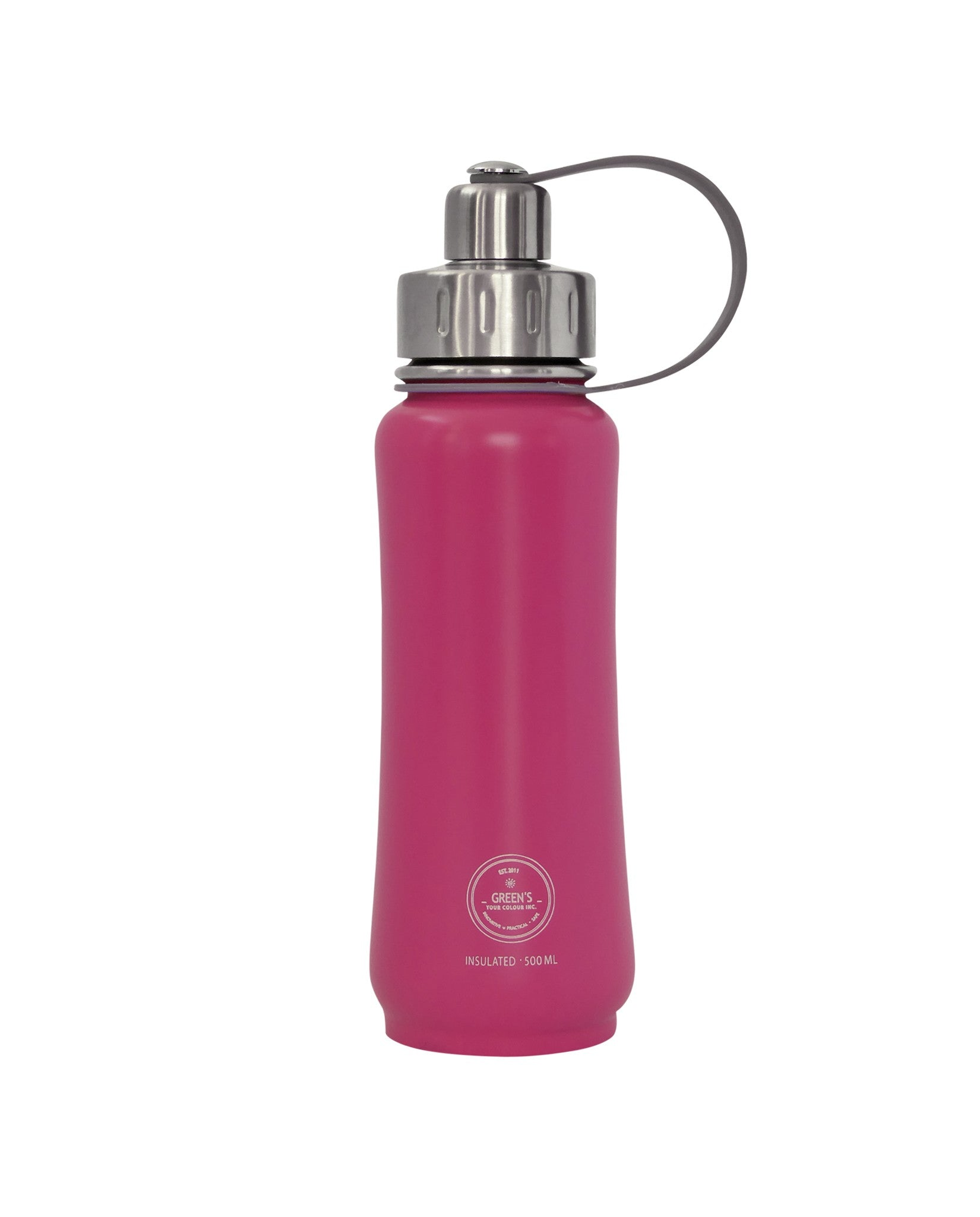 500 ml Poppin Pink leak-proof triple insulated vacuum stainless steel water bottle