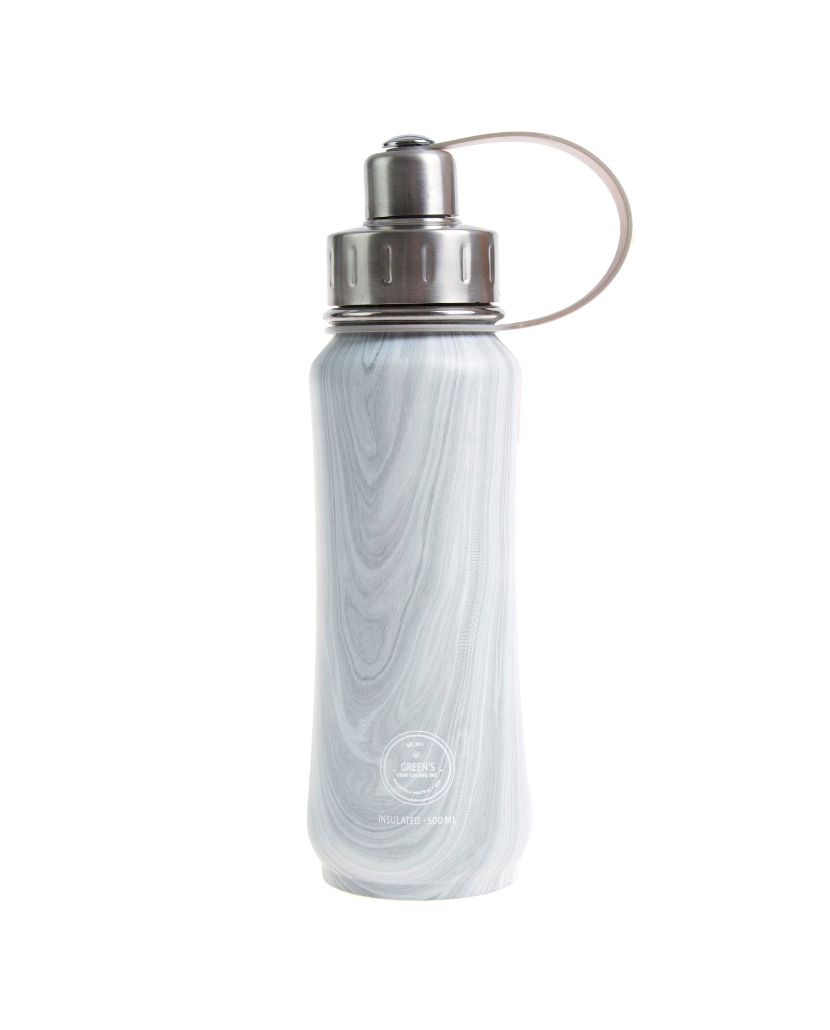 500 ml Cabin Fever triple insulated vacuum stainless steel water bottle silver lid