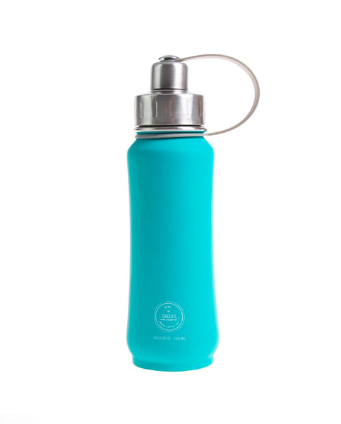 500 ml Jammin' Jade rubberized triple insulated vacuum stainless steel leak-proof water bottle orange lid
