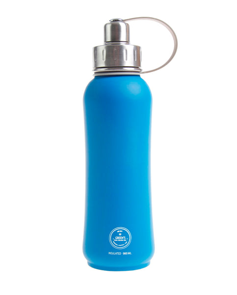 800 ml 'Electric Blue' triple insulated vacuum stainless steel leak-proof water bottle silver lid