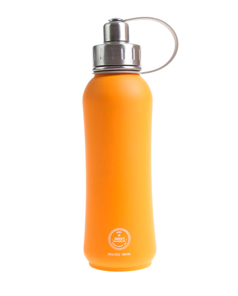 800 ml Tangerine Kiss triple insulated vacuum stainless steel leak proof water bottle silver lid