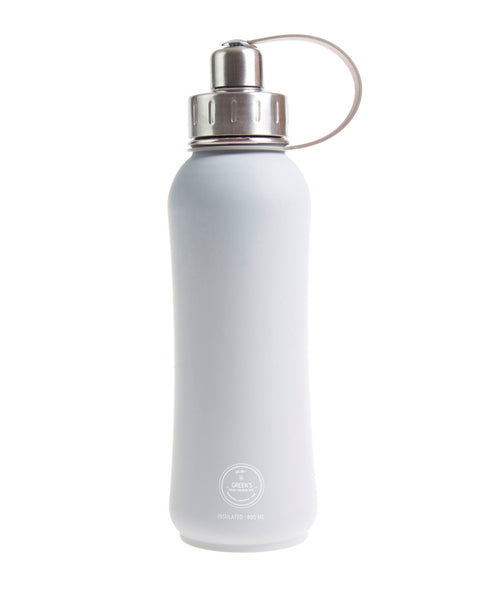 800ml Rock Steady triple insulated vacuum stainless steel water bottle silver lid