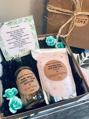 SUSTAINABLE GIFT KIT- NATURAL BATH SALT, NATURAL CITRUS + SAGE ROOM SPRAY