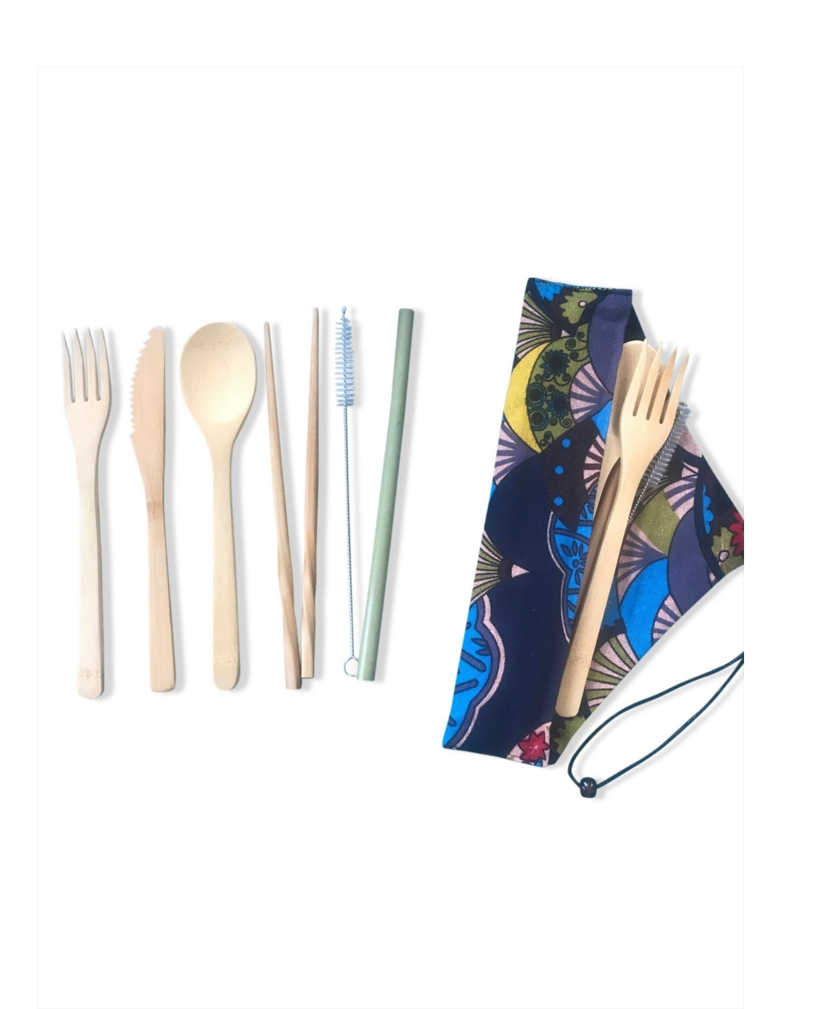 Reusable Bamboo Utensil Kit