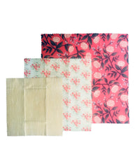 ULTIMATE BEESWAX WRAPS 3 PACK 'VINTAGE FLORAL'