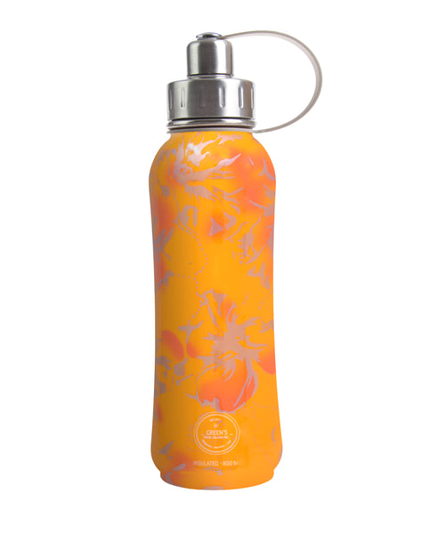 800 ml 'Aloha Flower' Orange ('Factory Seconds' will have flaw/dent)
