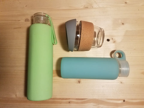 Reusable Bottles and Coffee Cup
