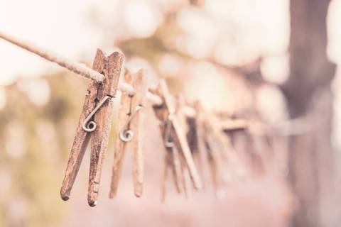 Clothes Pins for Drying Clothes Naturally Outdoors