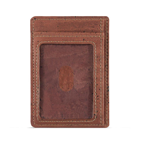 Cork Card Holder Wallet Red Back