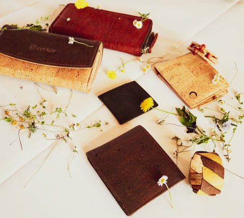 Vegan Leather Products: Cork Wallets and Bracelets