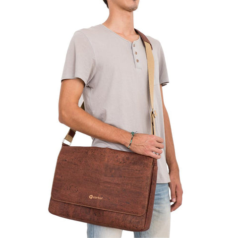 Cork Messenger Bag For Men by Corkor | HowCork