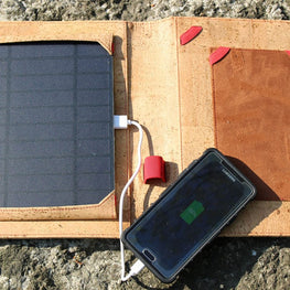 Cork Solar Panel Charger Case with Power Bank - HowCork