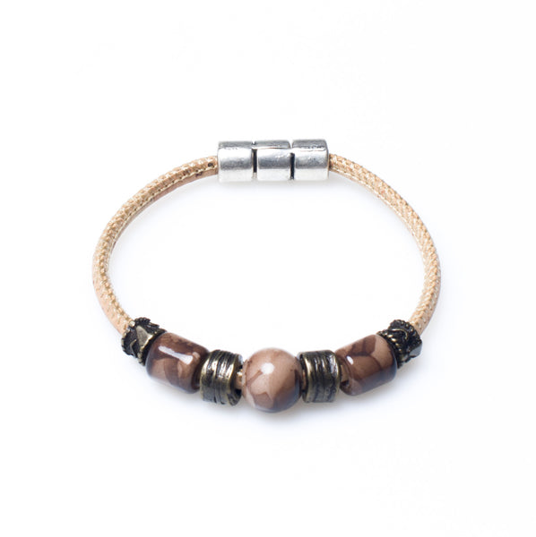 Marrone Beaded Bracelet - HowCork