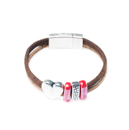 Heart Cork Bracelet | HowCork - The Cork Marketplace