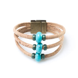 Turquoise Cork Bracelet | HowCork - The Cork Marketplace