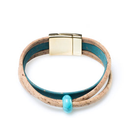 Crossing Cork Strand Bracelet - HowCork