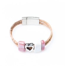 Art for the Cure White and Pink Heart Bracelet