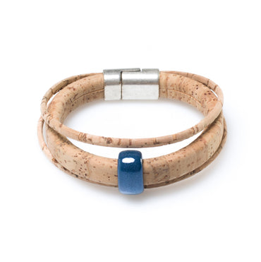 Azul Bead Cork Bracelet | HowCork - The Cork Marketplace