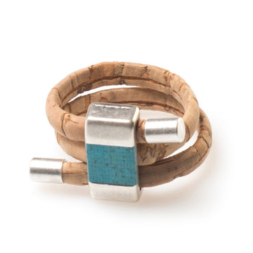 Turquoise Cork Ring | HowCork - The Cork Marketplace