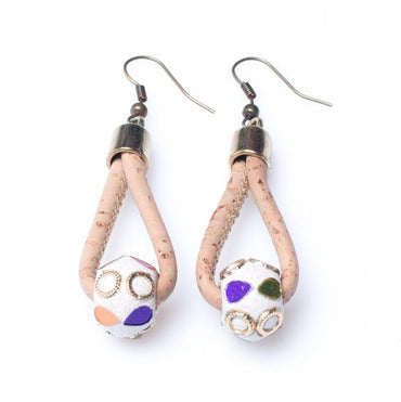 Cork Brilliant Bead Earrings | HowCork - The Cork Marketplace