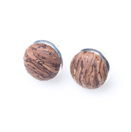 Cork Button Earrings | HowCork - The Cork Marketplace