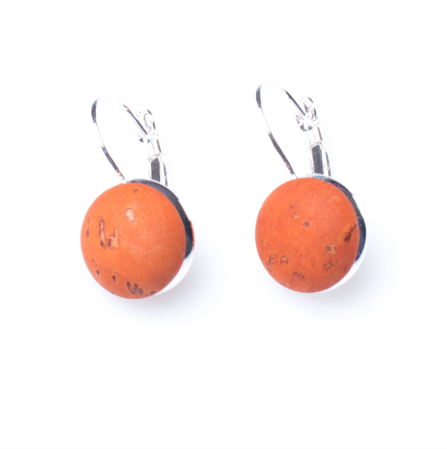 Hanging Cork Button Earrings | HowCork - The Cork Marketplace