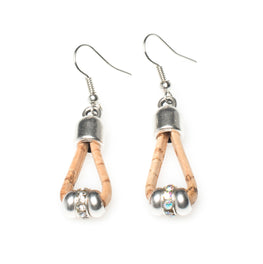 Rhinestone Cork Earrings | HowCork - The Cork Marketplace