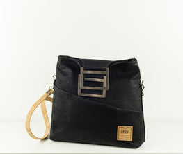 Palmeri Black Cork Handbag