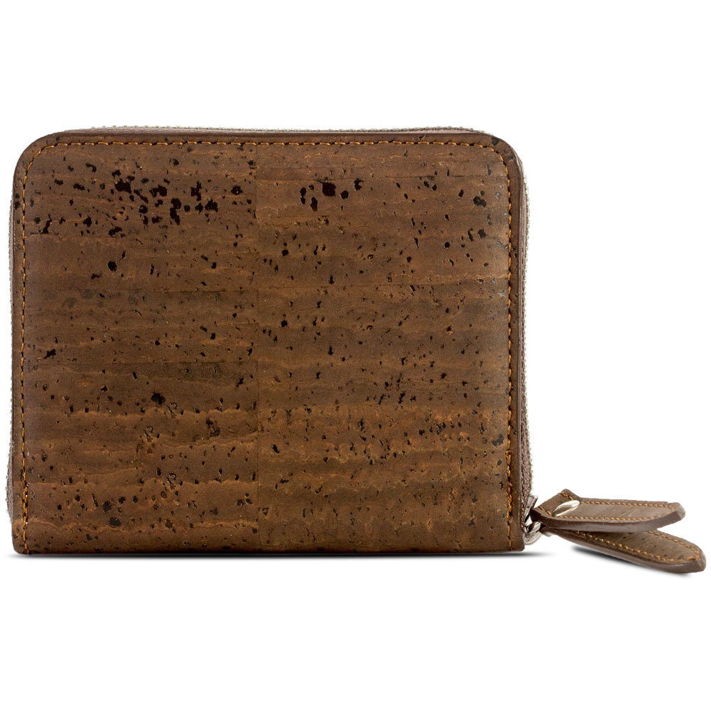 Women's Cork Zipper Wallet - HowCork