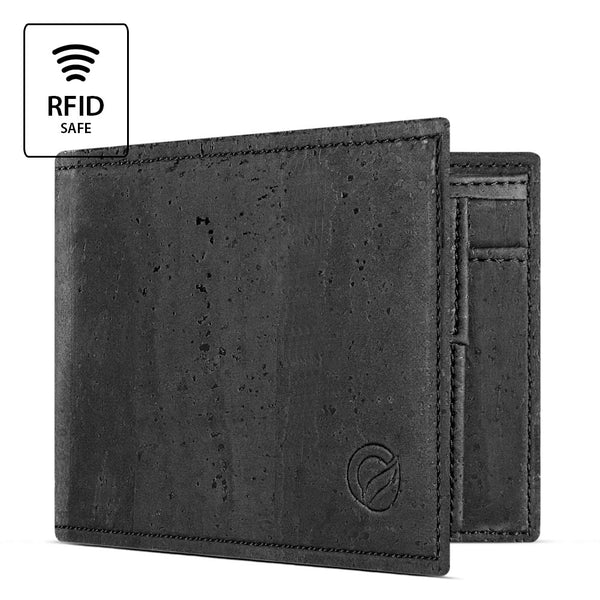 Men's Cork Wallet with Coin Pocket - HowCork