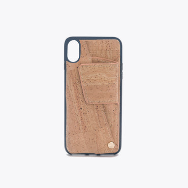 Cork iPhone XS Cell Phone Case with Card Holder