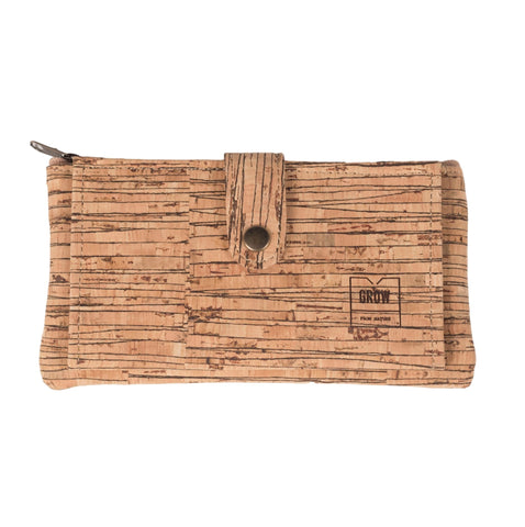 Cork Long Patterned Wallet