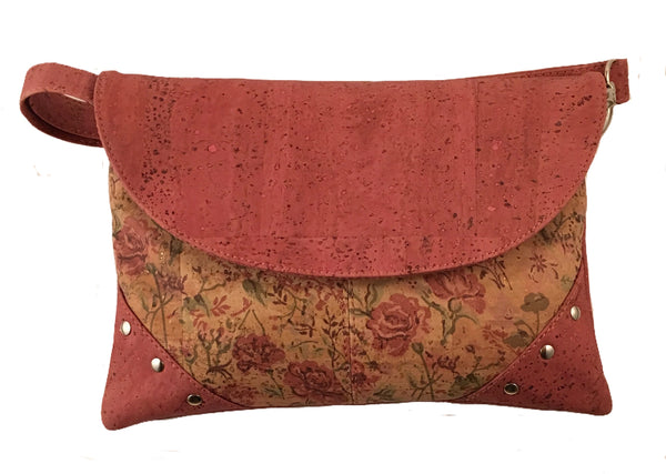 Art For the Cure Pink and Floral Studded Purse - HowCork