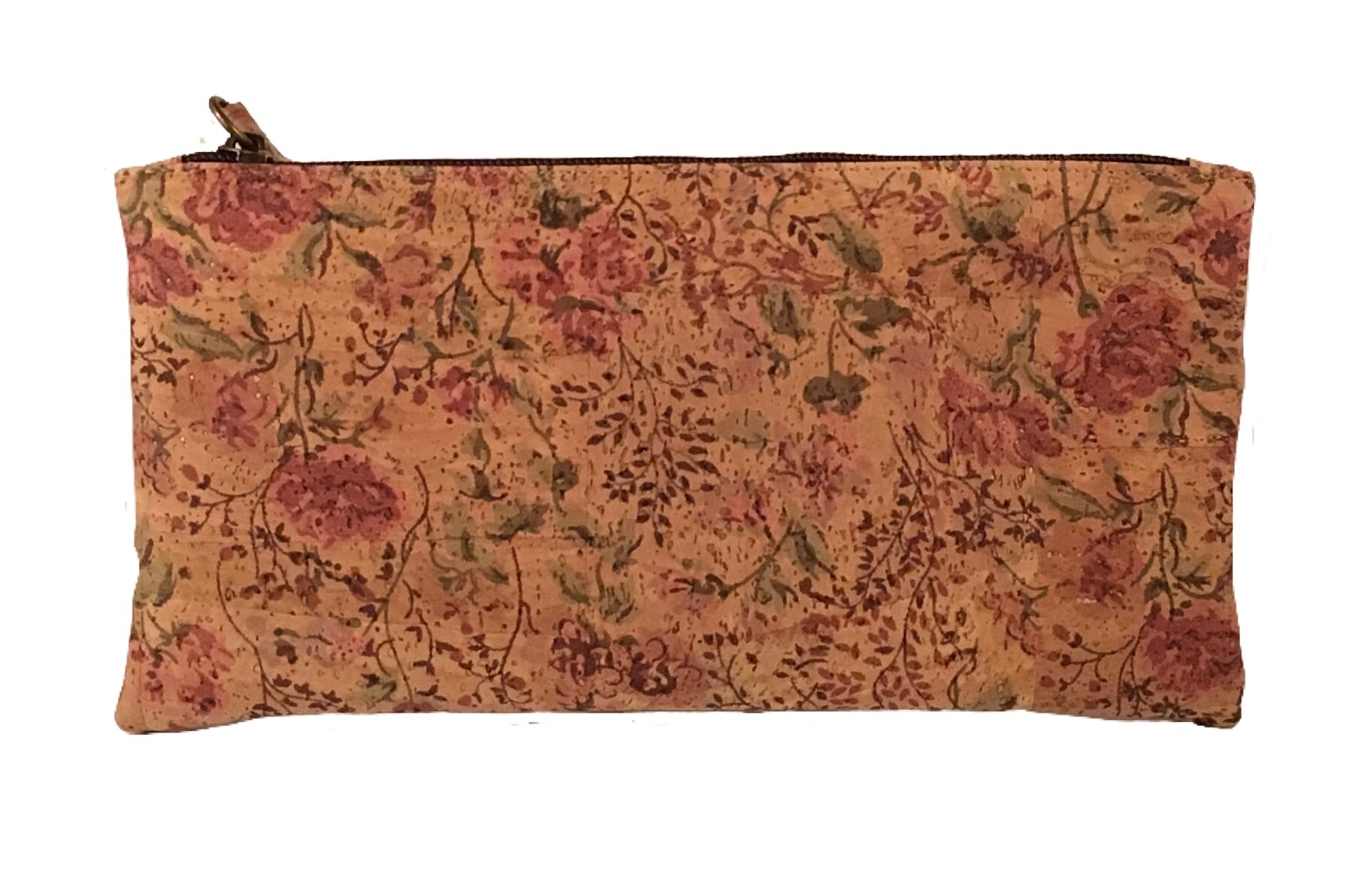 Art For The Cure Pink and Floral Cork Wristlet - HowCork