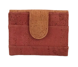 Art For The Cure Pink and Natural Cork Wallet - HowCork