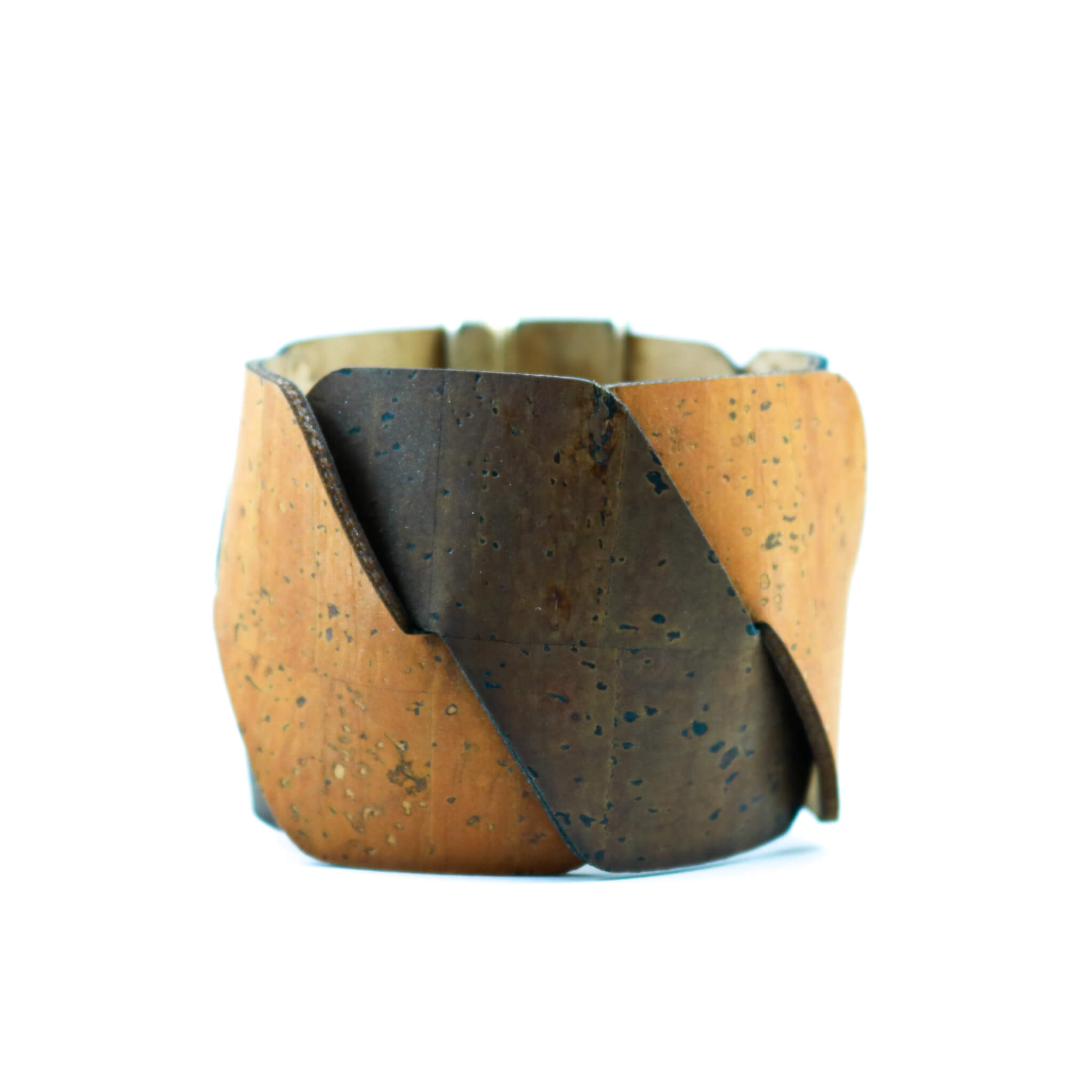 Brown and Burnt Red Cork Cuff